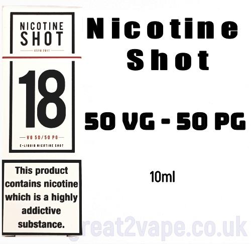 18mg NICOTINE SHOT 50VG - 50 PG