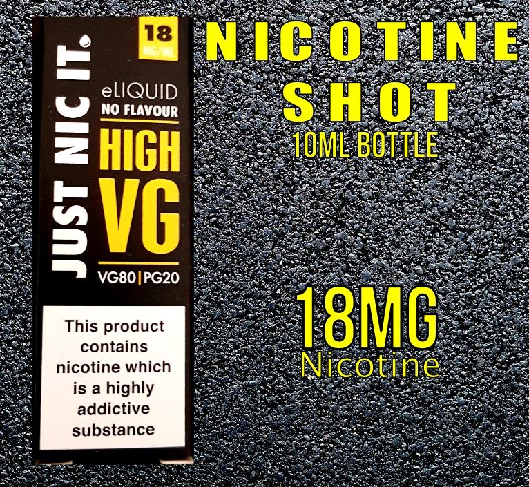 Nicotine Shot 18mg High VG (10ml)