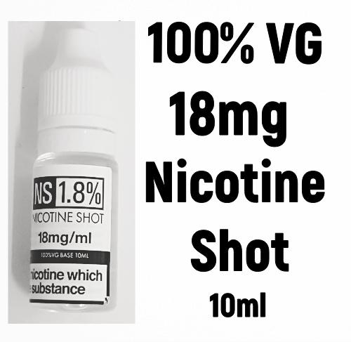 18mg NICOTINE SHOT 100% VG
