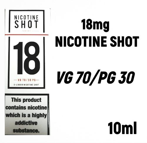 18mg NICOTINE SHOT 70VG - 30PG